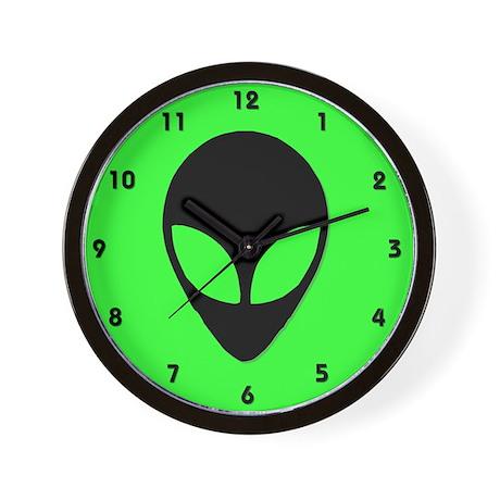 Alien Head Design 3 Wall Clock
