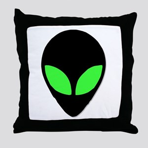 Alien Head Design 3 Throw Pillow