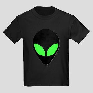 Alien Head Design 3 Kids Dark T-Shirt