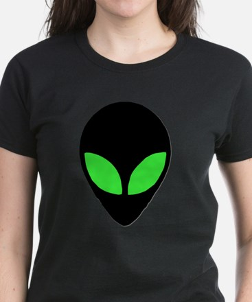 Alien Head Design 3 Women's Dark T-Shirt