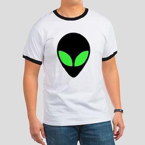 Alien Head Design 3 Ringer T