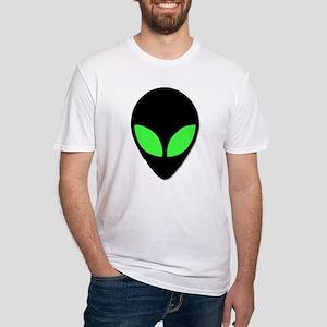 Alien Head Design 3 Fitted T-Shirt