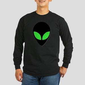 Alien Head Design 3 Long Sleeve Dark T-Shirt