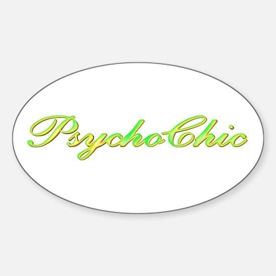 Green PsychoChic Oval Decal