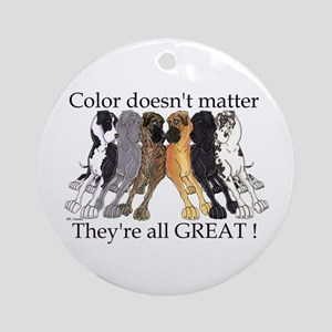 N6 Color Doesn't Matter Ornament (Round)