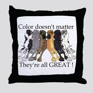 N6 Color Doesn't Matter Throw Pillow