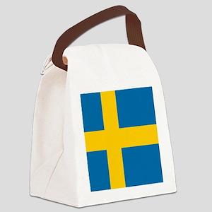 Flag: Sweden Canvas Lunch Bag