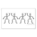 ILY SkelDance Rectangle Sticker 10 pk)