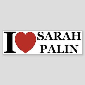 I Love Palin Bumper Sticker