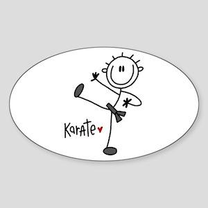 Stick Figure Referee Oval Sticker