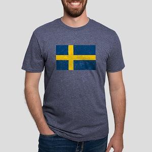 Distressed Sweden Flag T-Shirt