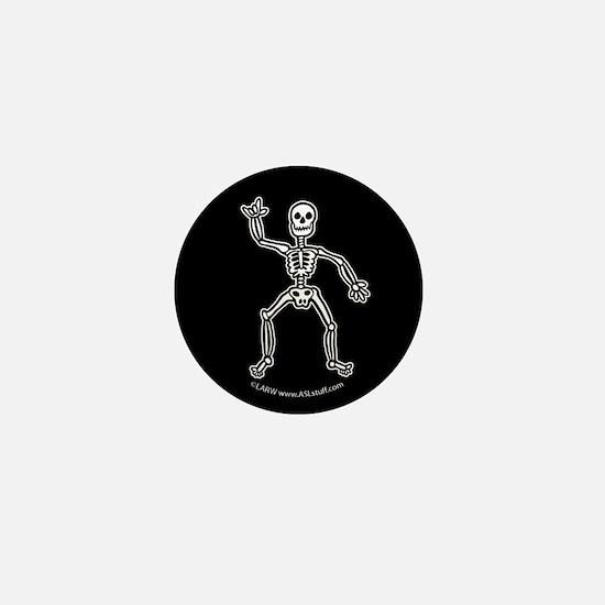 ILY SkeletonBlack Mini Button