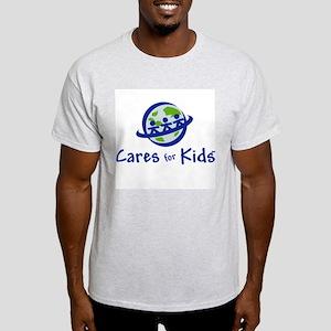 Cares For Kids Ash Grey T-Shirt