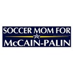 Soccer Mom for McCain Palin Bumper Sticker