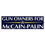 Gun Owners for McCain Palin Bumper Sticker