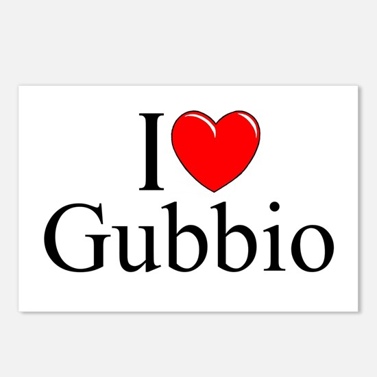 """""""I Love (Heart) Gubbio"""" Postcards (Package of 8)"""