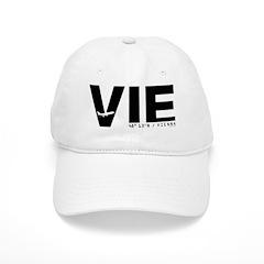 Vienna Airport Code Austria VIE Black Baseball Cap