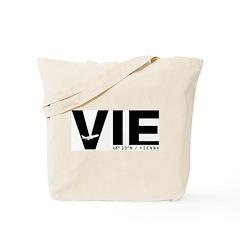 Vienna Airport Code Austria VIE Black Tote Bag