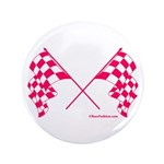 Pink Crossed Checkered Flags 3.5
