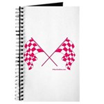 Pink Crossed Checkered Flags Journal