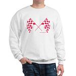 Pink Crossed Checkered Flags Sweatshirt