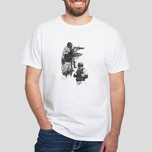 Corrections Art #3 White T-Shirt