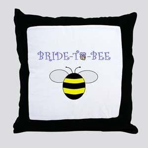 BRIDE-TO-BEE Throw Pillow