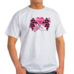 Pink Racing Flags Light T-Shirt