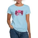 Pink Racing Flags Women's Light T-Shirt