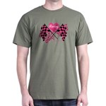 Pink Racing Flags Dark T-Shirt