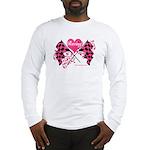 Pink Racing Flags Long Sleeve T-Shirt