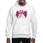 Pink Racing Flags Hooded Sweatshirt