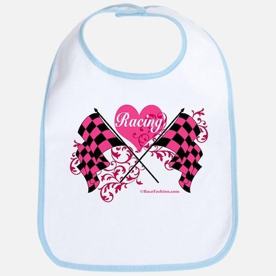 Pink Racing Flags Bib