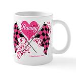 Pink Racing Flags Mug