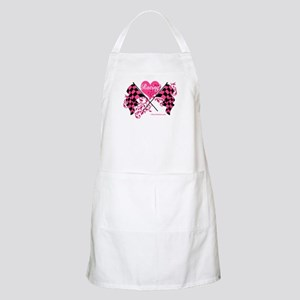 Pink Racing Flags Apron