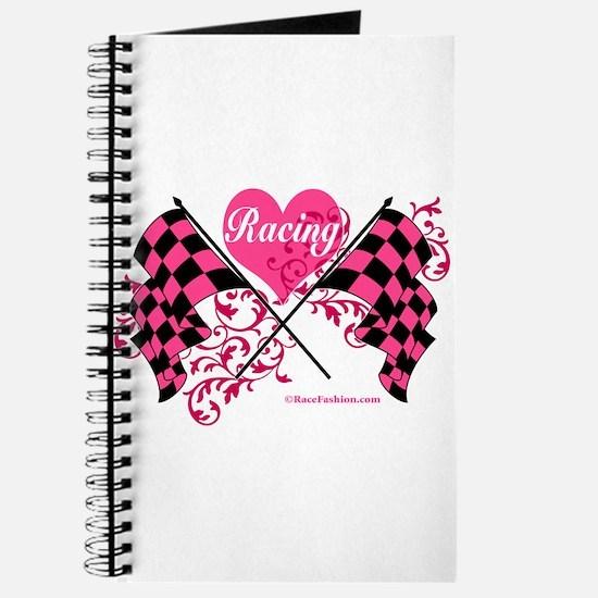 Pink Racing Flags Journal