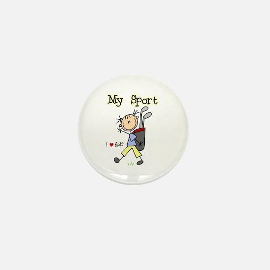 Golf My Sport Mini Button