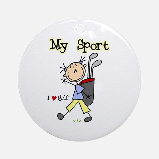 Golf My Sport Ornament (Round)