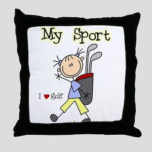 Golf My Sport Throw Pillow