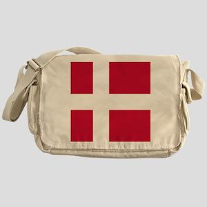 Flag: Denmark Messenger Bag