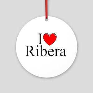 """I Love (Heart) Ribera"" Ornament (Round)"
