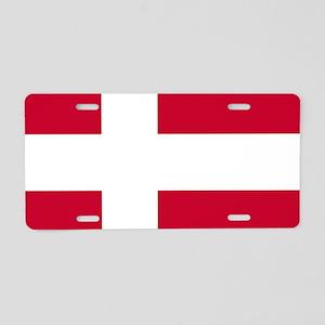 Flag: Denmark Aluminum License Plate