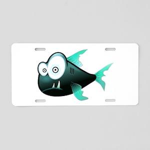 Scary Piranha Aluminum License Plate
