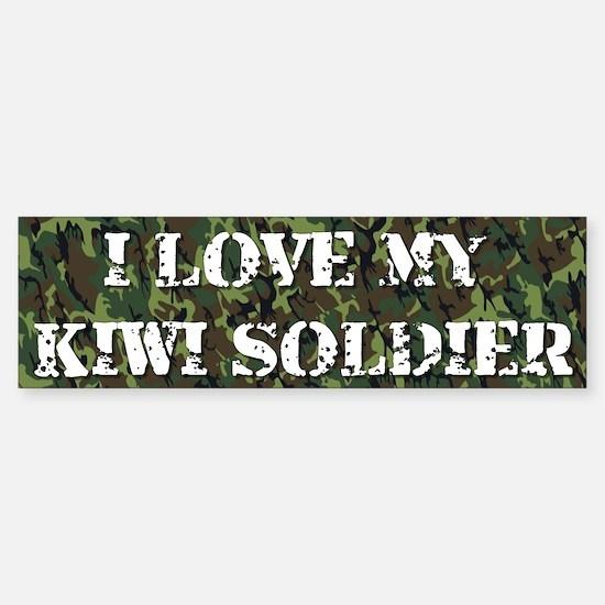 I Love My Kiwi Soldier Bumper Bumper Bumper Sticker