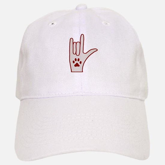 Love a Deaf Dog Today! Sign Baseball Baseball Cap