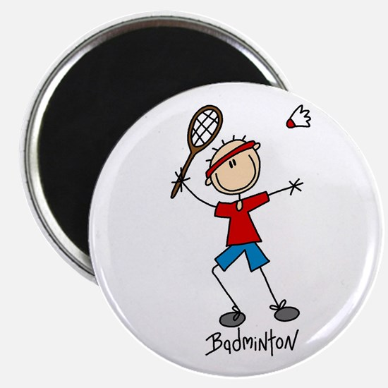 "Badminton 2.25"" Magnet (10 pack)"