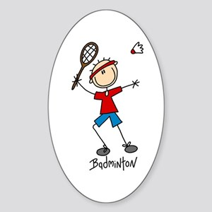 Badminton Oval Sticker