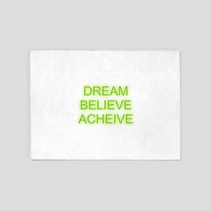 Dream Believe Acheive 5'x7'Area Rug