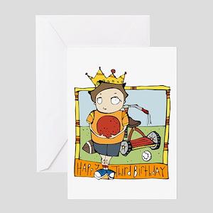 Happy Third Birthday Greeting Card