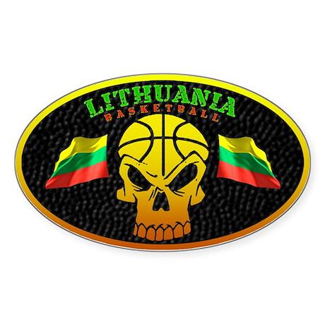 Lithuania Basketball Oval Sticker